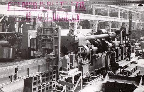 3500 ton Horizontal Extrusion Press, views taken during erection c.1940 and on site c.1944, O/No. 8601, c.1939