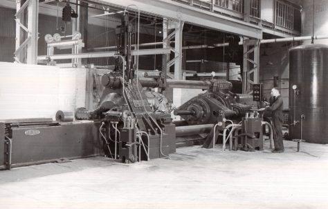1250 ton Horizontal Extrusion Press, views taken on site, c.1941, O/No. 8659, c.1939