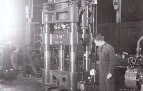 450 ton Four Column Press, O/No. 9287, c.1941