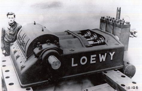"9"" Stroke, Horizontal, Three-Throw 'Loewy' Pump, c.1942"