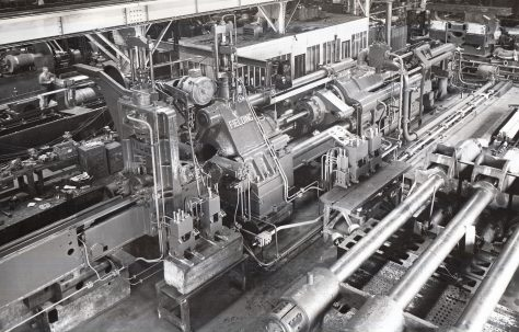 1500 ton Horizontal Extrusion Press, views taken during erection and on site, c.1943, O/No. 9698, c.1941