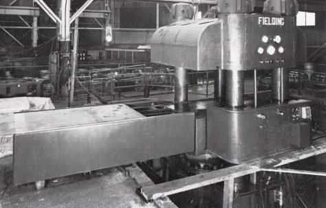 3700 ton Four Column Press, views taken at erection, O/No. 9449, c.1941