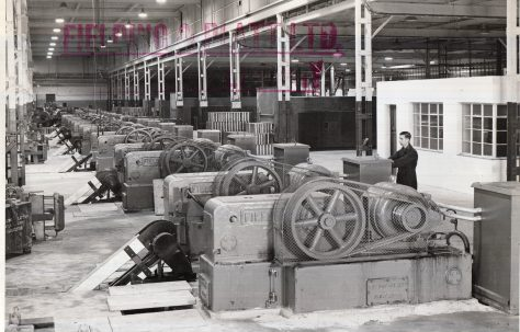 Thirty four H3 Hydraulic Pumps, view taken at Fisher & Ludlow factory, O/No. 9714, c.1941