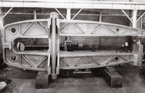 30, 90 ton Fixed (All steel) Rivetter, 17' Gap, WP 3000 psi, O/No. 4288, c.1942