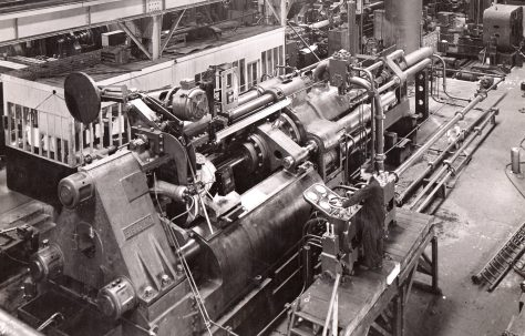 1500/1700 ton Horizontal Tube Extrusion Presses for direct & indirect processes, O/No. 4094, c.1943