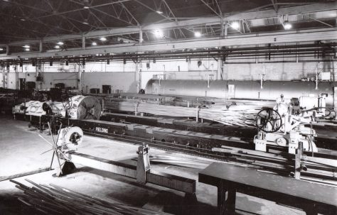 150 ton Stretching and Detwisting Machine, view taken on site at Rogerstone, O/No. 9846, c.1942