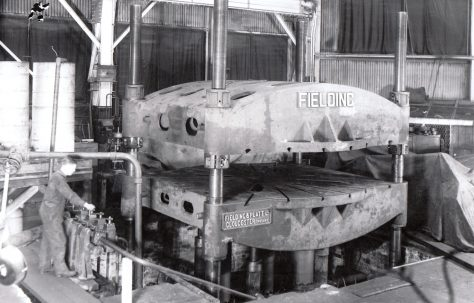 750 ton Three Table Upstroking Flanging Press, O/No. 4560, c.1943