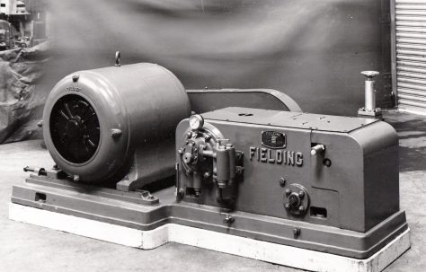 H2 1/2 Pump, with Chain Drive and Motor, O/No. 4855, c.1944