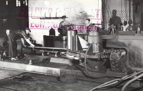 Hollow-Ring Tyre Rolling & Finishing machine, views taken on site by Brown-Firth Research, O/No. 5348, c.1945