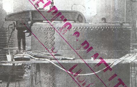 40 ton Boiler-End Rivetter, with Boiler, c.1946