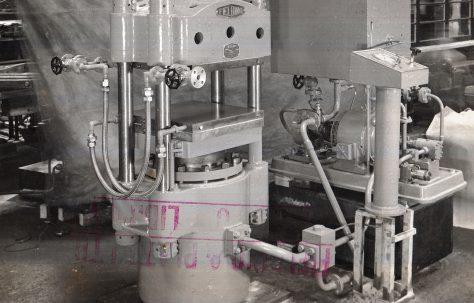 120 ton Single-Daylight Platen Press, O/No. 5077, c.1945