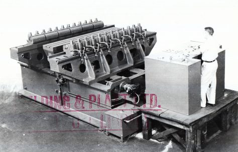 Erco Hysp 300 ton, 75 ton and 150 ton Two-Cylinder Hydraulic Stretch Forming Machines, c.1946