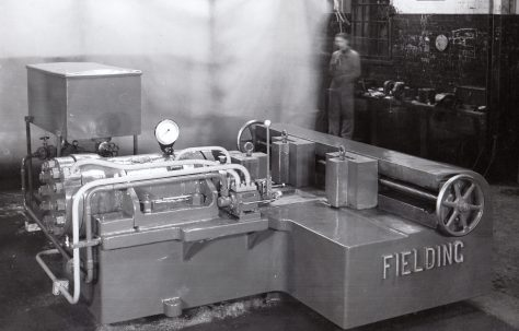"""120 ton Horizontal Straightening Press, 18"""" Stroke with Fraser two-stage pump, O/No. 5163, c.1945"""
