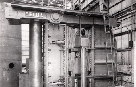 3300 ton Vertical Hydraulic Plate Bender, O/No. 4756, c.1944