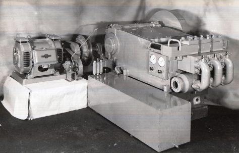 L8 Horizontal Three-Throw Hydraulic Pump, O/No. 5206, c.1945