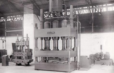750 ton Flanging Press & 40 ton Axle Guard Press, views taken on site, O/No. 5166/67, c.1945
