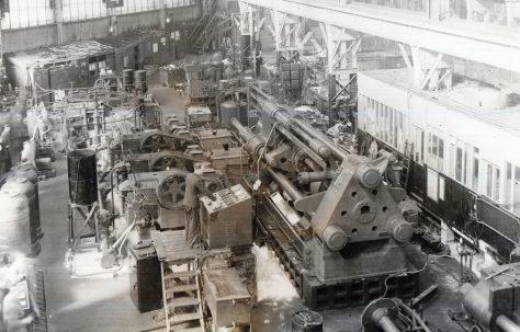 1500 ton Direct-Pumped Extrusion Press, views taken during erection, O/No. 5227, c.1946