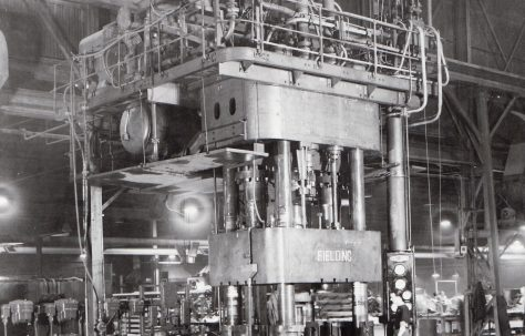 1500 ton Four Column Forging Press, view taken on site, c.1946