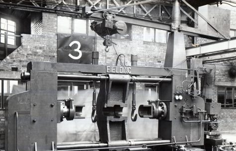 300 ton Double-Ended Wheel Press, with onboard crane, O/No. 5303, c.1946