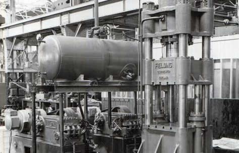 500 ton Forging Press with 2-H3 Pumps direct pumping, c.1946