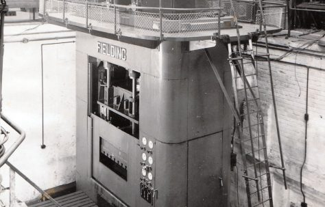 625 ton Triple Action Press, views taken during assembly, O/No. 5388, c.1946