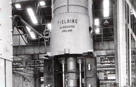 2000 ton Steam Hydraulic Punching Press with Steam Intensifier, O/No. 5372, c.1946