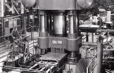 2500 ton Forging Press, O/No. 5655, c.1947