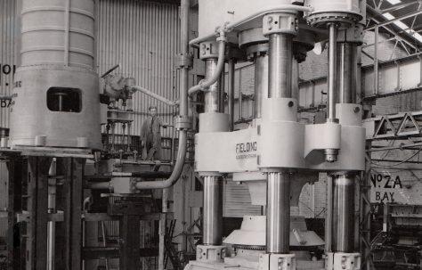 2000 ton Steam Hydraulic Slabbing Press, O/No. 5372, c.1946