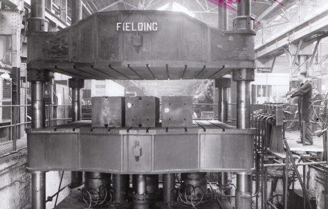1000 ton Upstroking Hydraulic Flanging Press, O/No. 5602, c.1946