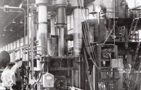 2000 ton Cable Sheathing Press, view taken on site in the late 1940s, O/No. 6915, c.1933