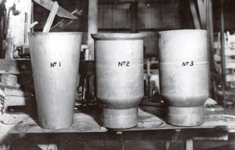 Mild steel milk cans, c.1949