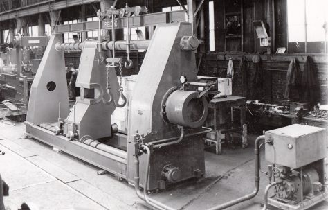 500 ton Hydraulic Wheel Press, O/No. 5792, c.1947