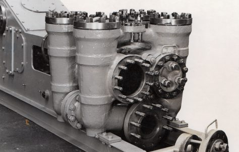 SPA 12 Slush Pump, water end, c.1949