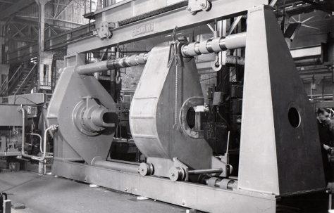 600 ton Horizontal Wheel Press, O/No. 5875, c.1947