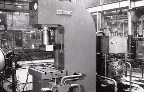 120 ton Open Gap Direct Acting Press, O/No. 6205, c.1949
