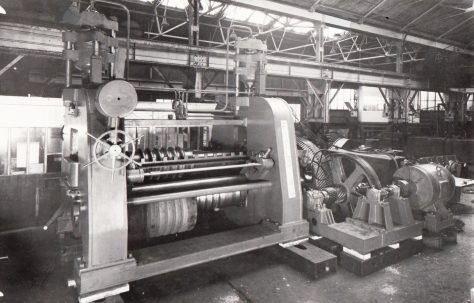 Five 150 ton Corregating Machines with a view of one machine on site, O/No. 5260, c.1944