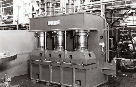 250 ton Plate Edge Curving Press, O/No. 6162, c.1948