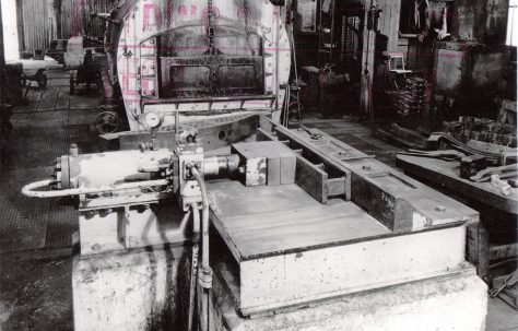 10 ton Spring Cambering Press, showing components, views taken on site, c.1948, O/No. 5809, c.1947
