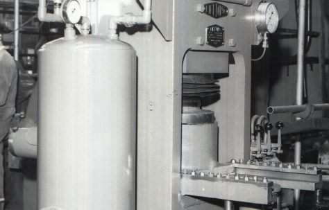 80 ton Circular Concrete Block Press, c.1950