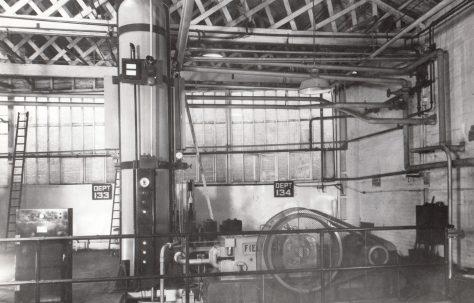 Air/Water Hydraulic Accumulator with H3 Pump, O/No. 6194, c.1950