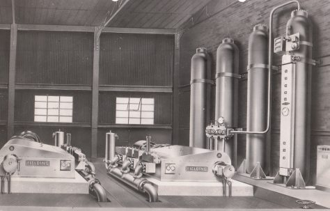 Typical Air/Water Hydraulic Accumulator Station layout, c.1950