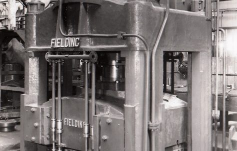 300 ton Downstroking Platen Press, O/No. 3880, c.1951