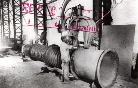 Boiler-End & Flue-Flanging Rivetter, O/No. 5264, c.1944