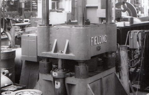 200 ton Four-Column Downstroking Press, O/No. 3710, c.1952
