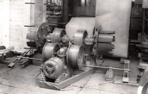 Coiler for 2000/500 ton Horizontal Tube Extrusion Press, O/No. 3770, c.1952