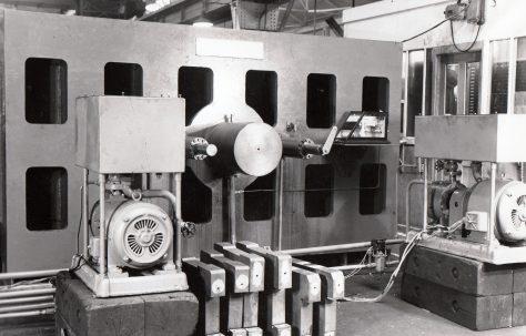 180 ton Vertical Side-Loading Wheel Testing Machine, O/No. 4070, c.1952