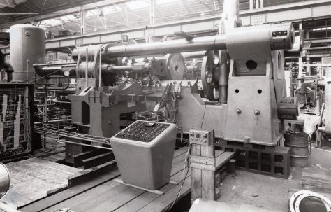 3000 ton Horizontal Extrusion Press, views taken on site, O/No. 4270, c.1952