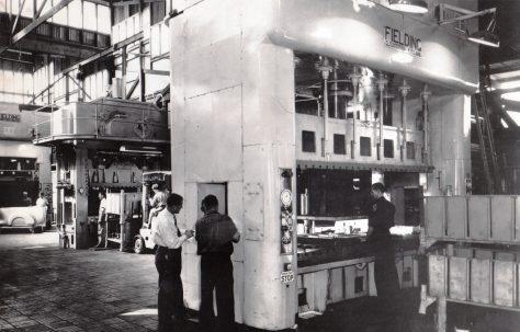 400 ton Treble-Action Deep-Drawing Press, views taken on site, O/No. 3300, c.1951