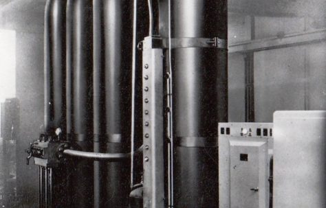 An Air/Water Hydraulic Accumulator Station, c.1954