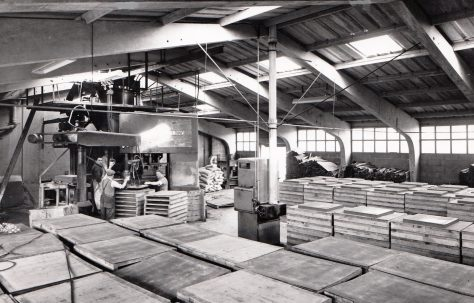 400 ton Three-Mould Slab Press, views taken on site, O/No. 5010, c.1953
